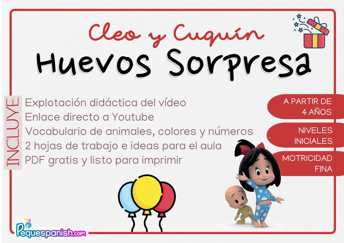 Pequespanish_Explotación didáctica vídeos Cleo y Cuquín