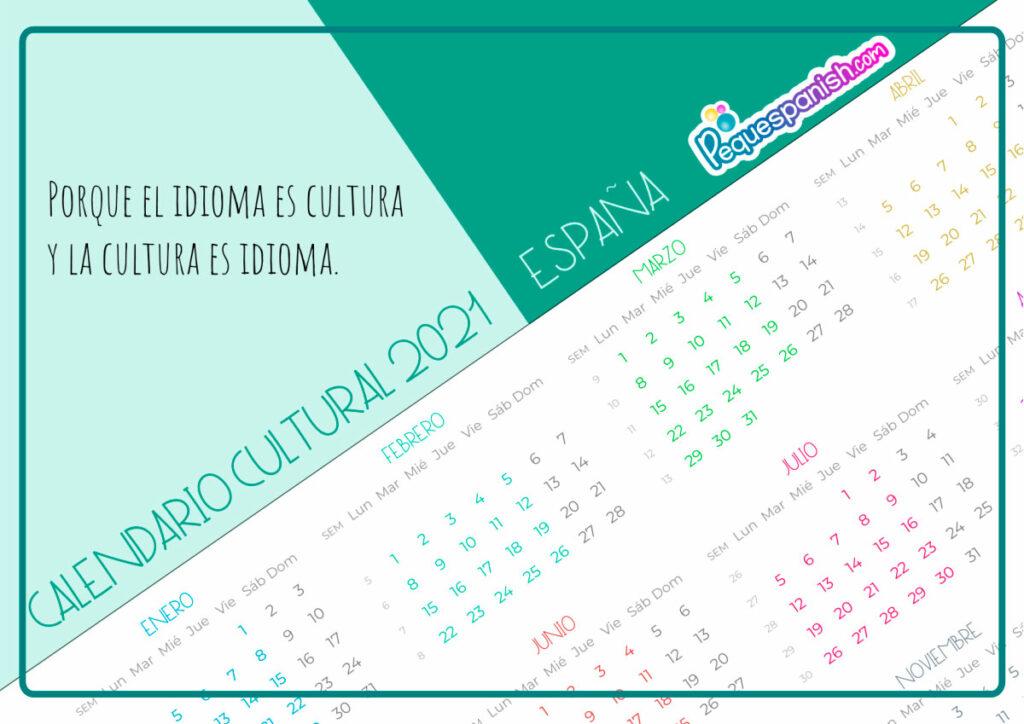 Calendario cultural 2021 Pequespanish