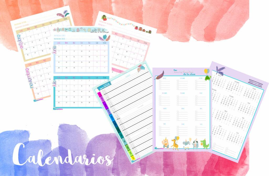 Agenda para docentes 2020-2021: Calendarios